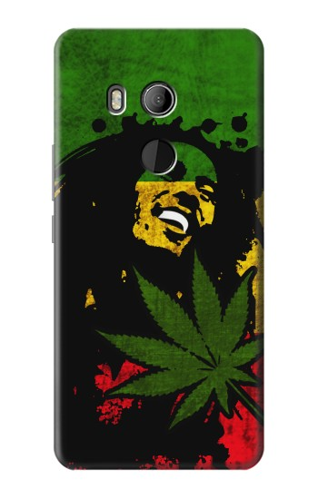 Printed Bob Marley Rasta Reggae Flag HTC U11 Eyes Case