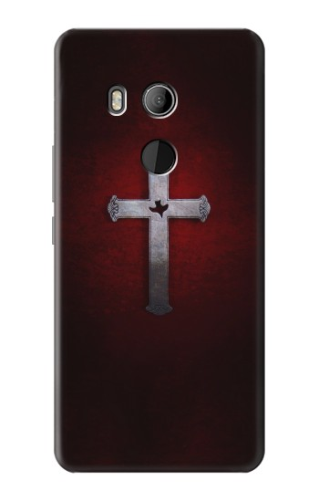 Printed Christian Cross HTC U11 Eyes Case