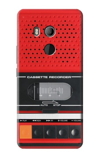 Printed Red Cassette Recorder Graphic HTC U11 Eyes Case