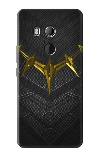 Printed Black Panther Inspired Costume Gold Necklace HTC U11 Eyes Case