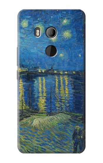 Printed Van Gogh Starry Night Over Rhone HTC U11 Eyes Case