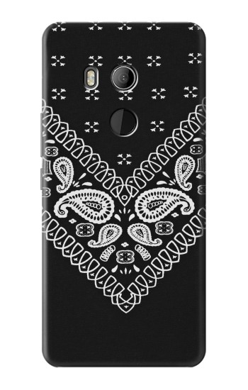 Printed Bandana Black Pattern HTC U11 Eyes Case