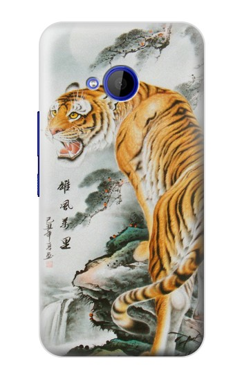 Printed Chinese Tiger Painting Tattoo HTC U11 Life Case