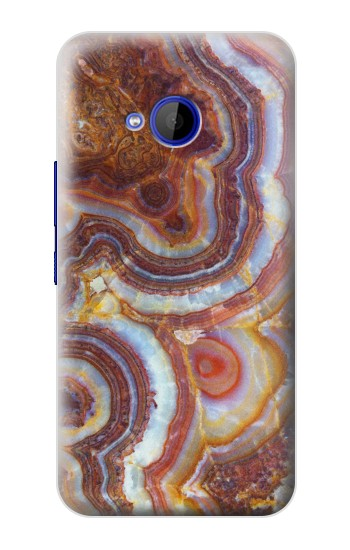 Printed Colored Marble Texture Printed HTC U11 Life Case
