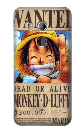 Printed One Piece Monkey D Luffy Wanted Poster HTC U11+ Case