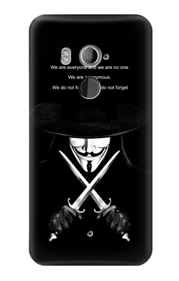 Printed V Mask Guy Fawkes Anonymous HTC U11+ Case