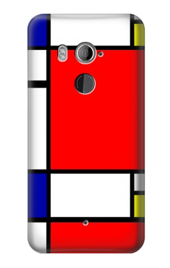 Printed Composition Red Blue Yellow HTC U11+ Case