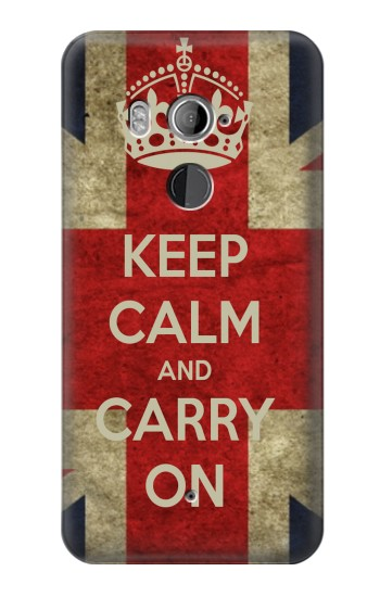 Printed Keep Calm and Carry On HTC U11+ Case