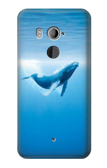 Printed Blue Whale HTC U11+ Case