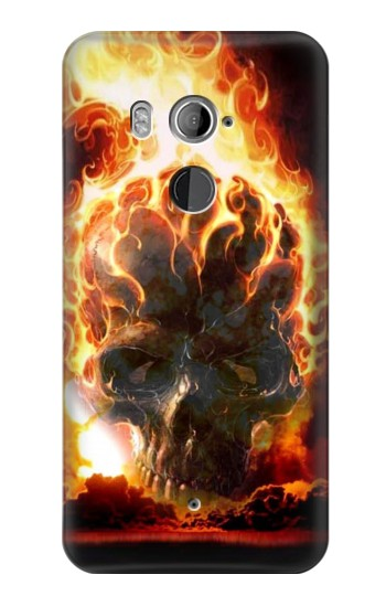 Printed Hell Fire Skull HTC U11+ Case