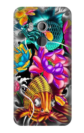 Printed Fish Japanese Oriental Tattoo HTC U11+ Case