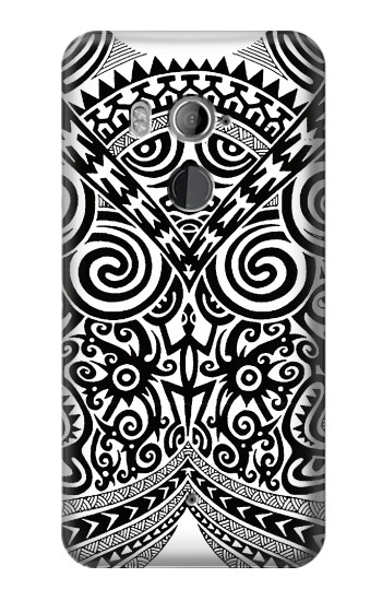 Printed Maori Tattoo HTC U11+ Case