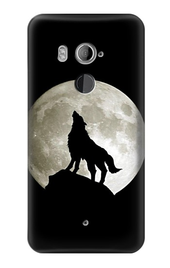 Printed Wolf Howling at The Moon HTC U11+ Case