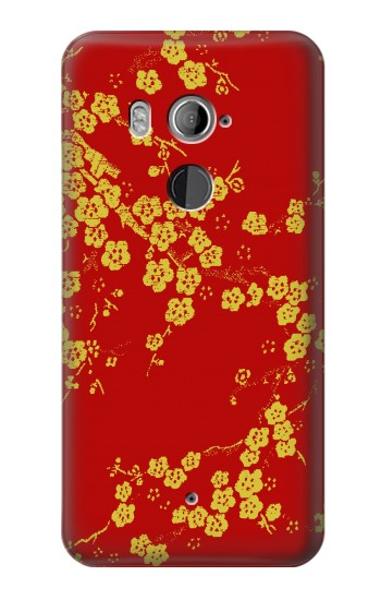 Printed Cherry Blossoms Chinese Silk Graphic Printed HTC U11+ Case