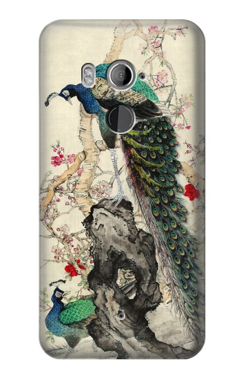 Printed Peacock Painting HTC U11+ Case