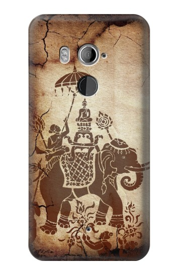 Printed Thai Art Buddha on Elephant HTC U11+ Case