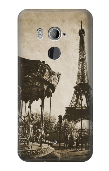 Printed Eiffel Tower Vintage Paris HTC U11+ Case