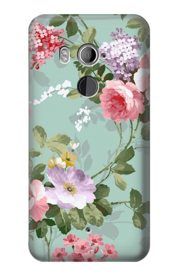 Printed Flower Floral Art Painting HTC U11+ Case