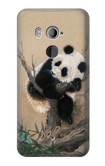 Printed Panda Fluffy Art Painting HTC U11+ Case