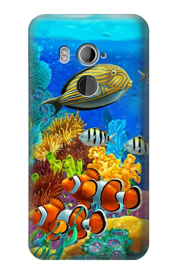 Printed Sea Seabed Fish Corals Underwater Ocean HTC U11+ Case