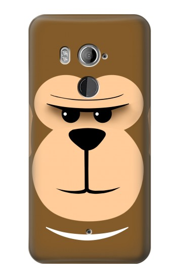 Printed Cute Monkey Cartoon Face HTC U11+ Case