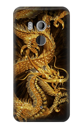 Printed Chinese Gold Dragon Printed HTC U11+ Case