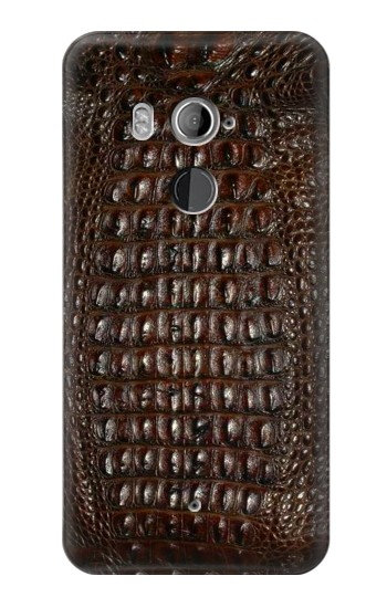 Printed Brown Skin Alligator Graphic Printed HTC U11+ Case