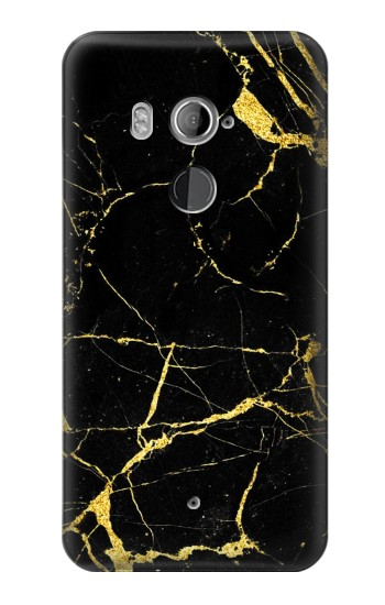 Printed Gold Marble Graphic Printed HTC U11+ Case