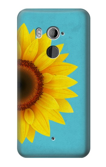 Printed Vintage Sunflower Blue HTC U11+ Case
