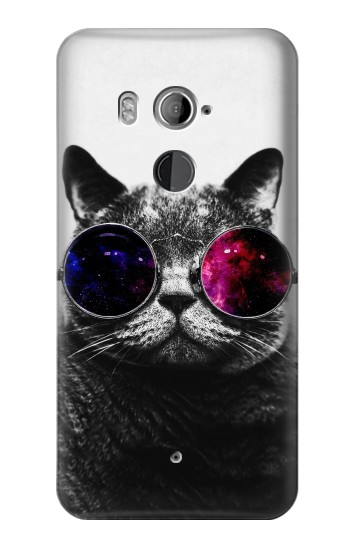 Printed Cool Cat Glasses HTC U11+ Case