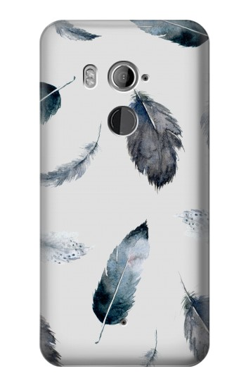 Printed Feather Paint Pattern HTC U11+ Case