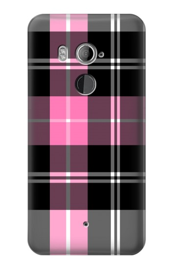 Printed Pink Plaid Pattern HTC U11+ Case