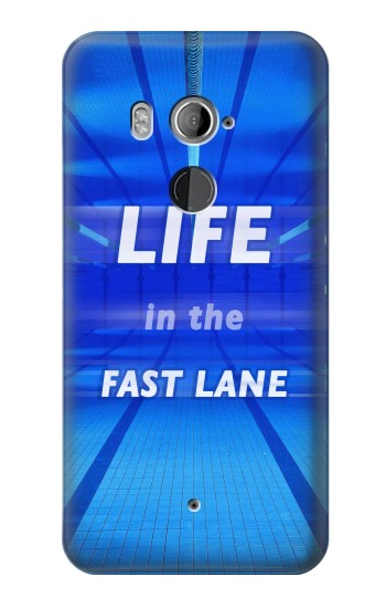 Printed Life in the Fast Lane Swimming Pool HTC U11+ Case