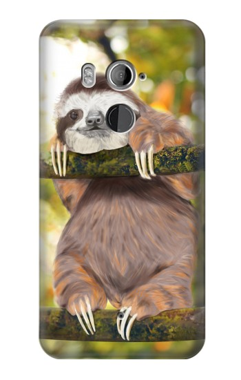 Printed Cute Baby Sloth Paint HTC U11+ Case