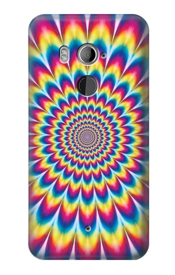 Printed Colorful Psychedelic HTC U11+ Case