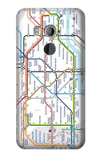 Printed London Underground Map HTC U11+ Case
