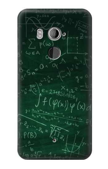 Printed Math Formula Greenboard HTC U11+ Case