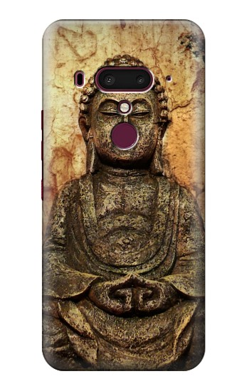Printed Buddha Rock Carving HTC U12+ Case