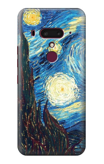 Printed Van Gogh Starry Nights HTC U12+ Case