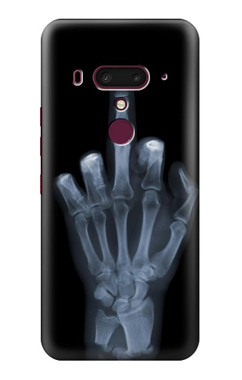 Printed X-ray Hand Middle Finger HTC U12+ Case