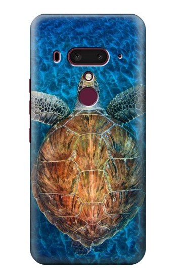 Printed Blue Sea Turtle HTC U12+ Case