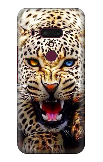 Printed Blue Eyed Leopard HTC U12+ Case
