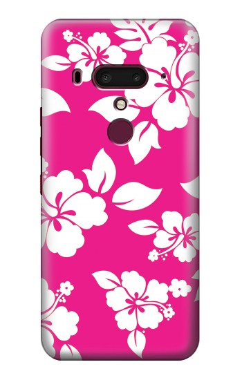 Printed Hawaiian Hibiscus Pink Pattern HTC U12+ Case