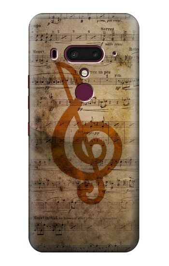 Printed Sheet Music Notes HTC U12+ Case