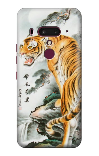 Printed Chinese Tiger Painting Tattoo HTC U12+ Case