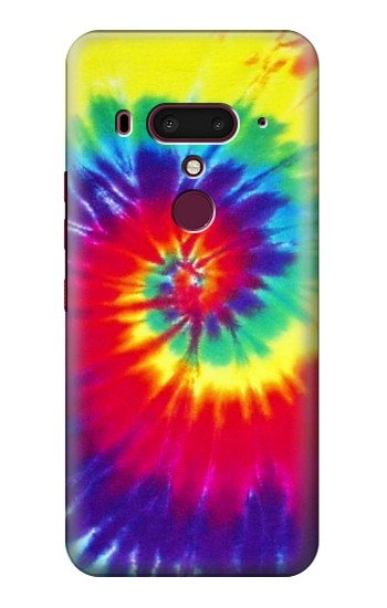Printed Tie Dye Fabric Color HTC U12+ Case
