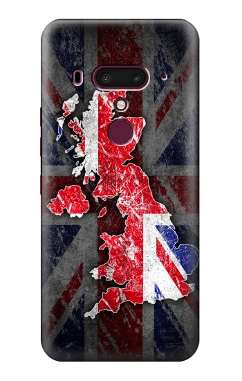 Printed UK British Flag Map HTC U12+ Case