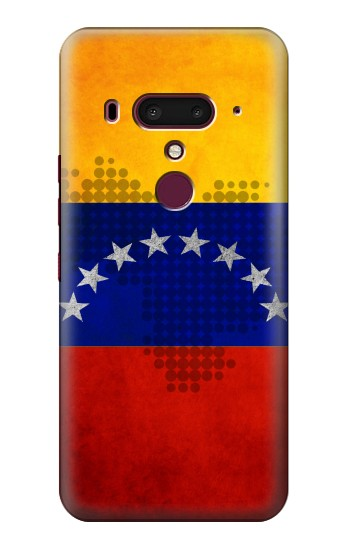 Printed Venezuela Map Flag HTC U12+ Case