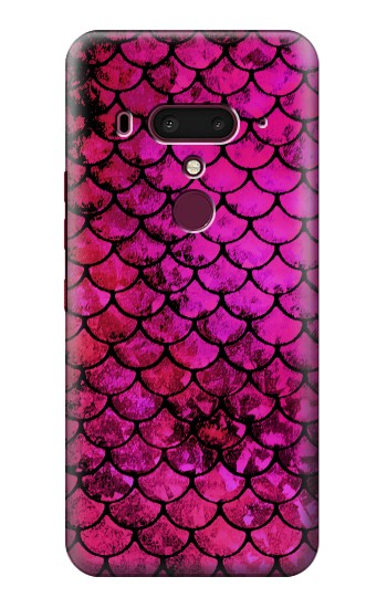 Printed Pink Mermaid Fish Scale HTC U12+ Case