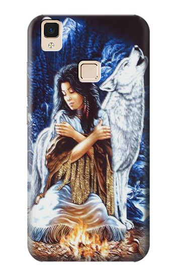 Printed Grim Wolf Indian Girl Apple iPad Air Case